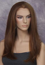 Heat Safe Human Hair Blend Wig Lace Front Long Straight Brown mix WBCL 27/4/30