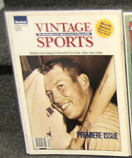 BECKETT VINTAGE SPORTS PREMIERE ISSUE VOL 1 FALL 1996 MICKEY MANTLE COVER MINT