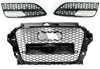 Für Audi A3 8V 12-15 RS Look Wabengrill Stoßstange Diffusor Kühlergrill Grill 02