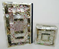 King James Version Carved Mother Of Pearl And Abalone Holy Bible And Box