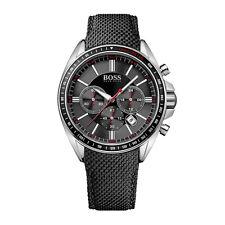 HUGO BOSS Uhr 1513087 Driver Sport Herren Chronograph Textil Schwarz Armbanduhr