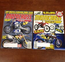 LOT OF 2 2000 MOTOCROSS ACTION JULY - AUG 125 250 450 SHOOTOUT WORLD 4 STROKE