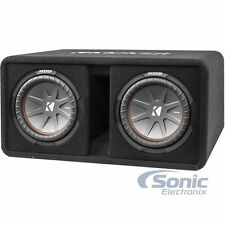 "Kicker DCWR102 CompR10 800W RMS Dual 10"" Loaded Vented Subwoofer Bass Enclosure"