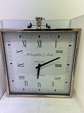 John Lewis Libra McLaughlin & Scott Large Chrome Clock