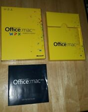 Microsoft Office Mac 2011 Home And Student Family Pack 3 Users Pre Owned