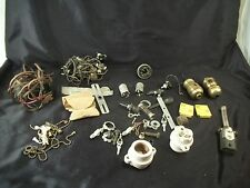 Parts lamp making supplies ceramic sockets brass wiring chains on off switch art
