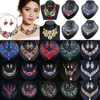 Woman Crystal Choker Chunky Statement Bib Pendant Women Necklace Chain Jewelry