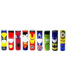 2 Battery 18650 Wrap Super hero designs DC Marvel TV Bat Super Iron Spider Xman