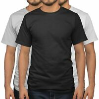 Mens T Shirt 3 Pack of Plain Tshirt for men T Shirts Deals of the day Black Red