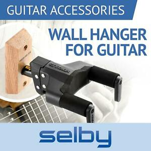 Hercules GSP38WB Plus Guitar Wall Mount Hangers Auto Locking Grip & Wooden Base