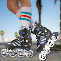 Adjustable Men Inline Skates Roller Blades Adult Size S-L Breathable =Adult Kids