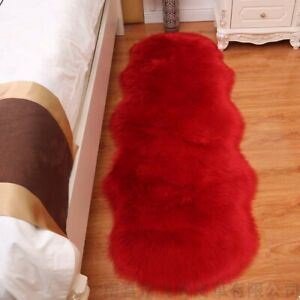 Faux Fur Rug Sheepskin Rugs for Bedroom Shaggy Area Rugs Chair Cover Shag Rug