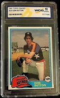 Don Sutton Topps Traded 1981 #839 Card WCG Graded GEM MINT 10
