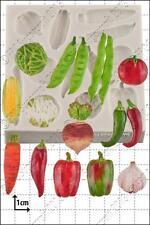 Moule Silicone Légumes Utilisation Alimentaire FPC Décoration en pâte à sucre