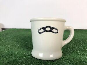 Rare Chain Links Coffee Cup Mug Shenango China Restaurant Heavy IOOF Odd Fellows