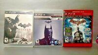Batman Arkham Origins, City, + Asylum GOTY - PS3 Sony Playstation 3 GAME Lot