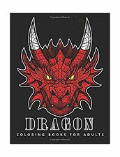 Dragon Coloring books for adults: Fantasy Design Adult coloring... Free Shipping