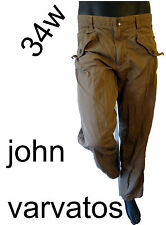 John Varvatos Khaki military casual 50 34 millitary beige brown pant slack chino