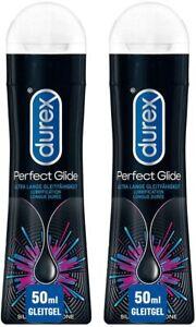 Durex Play Perfect Glide Gleit- & Erlebnisgel auf Silikonbasis Gleitgel 2 x 50ml