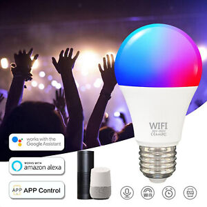 Wifi Smart LED light Bulb RGBW Dimmable For Amazon Alexa Google Home iOS Android