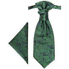 Paul Malone Plastron Set grün 2tlg Plastron + Einstecktuch PH14