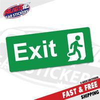 Green Emergency Exit Sticker Decal Safety Sign Car Vinyl #5429K