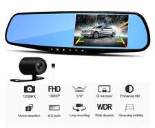 Car Camera Video Recorder Dual Lens DVR Dash Cam 1080P Rearview Mirror Black Box