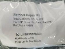 NIP  Craftsman ratchet repair kit #49834 for 1/4 drive flex head ratchet #49951