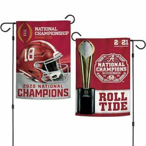 Alabama Crimson Tide 2020 National Champions Double Sided 12x18 Garden Flag NEW