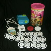 Vintage GAF Viewmaster Walt Disney Theater Projector Set Lot w/ 21 Disney Reels