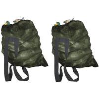 2x Mesh Duck/Goose Decoy Bag Should Straps Green Hunting Bird Decoys Carry Bag