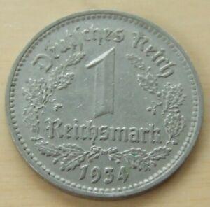 1934 German 1 mark coin