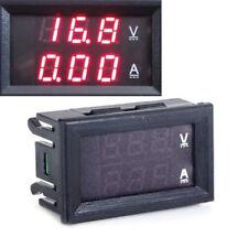 Dual rot LED Digital Voltmeter Ammeter Panel Amp Volt Gauge DC 0-100V 10A