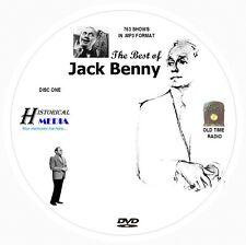 BEST OF JACK BENNY - 763 Shows Old Time Radio In MP3 Format OTR On 2 DVDs