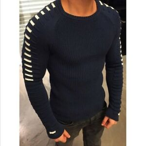 2019 winter foreign trade knit round neck long sleeve sweater