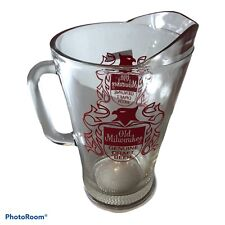Vintage Old Milwaukee Beer Heavy Glass Pitcher Genuine Draft Beer same day ship