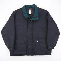 Vintage CARHARTT  Black Logo Nylon Workwear Quilted Jacket Mens XL