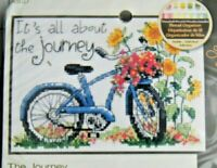 """THE JOURNEY  Dimensions 65017 Counted Cross Stitch Kit 7"""" X 5"""" NIP  Bicycle"""
