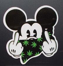 "Sticker Aufkleber ""Ganja Mouse"" Glanz-Optik Stickerbomb Skateboard Laptop"