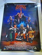 1993 PUPPET MASTER 4 ORIGINAL MOVIE POSTER -  ROLLED -