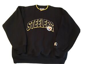 Starter Pittsburgh Steelers NFL Official Pullover Sweater Spell Out Large