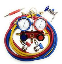 Manifold Gauge Diagnostic A/C Tool Kit R22 R134a R410a Refrigeration Auto Set