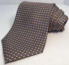 Brooks Brothers Makers Yellow Blue Geometric Luxury Tie 100% Silk