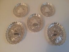 Set of Five Vintage Silver Plate Pin / Ring Dishes
