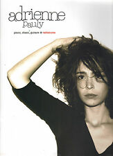 """ADRIENNE PAULY """"Adrienne Pauly"""" (PARTITIONS / SHEET MUSIC) 2005"""