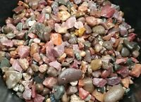 15 lbs Natural Ruby Red. With Aquarium  Gravel, Stones. Mix