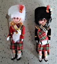 Trachten Puppe schottischer Dudelsack Spieler hohe Pelzmütze & Zeremonienmeister