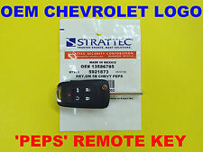 NEW Genuine Chevrolet Logo GM PEPS Switchblade Flip Key Remote 5921873 OEM