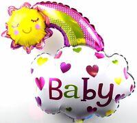 XL Bébé Helium Feuille de Ballons Naissance Fille Baptême Arc en Ciel Soleil