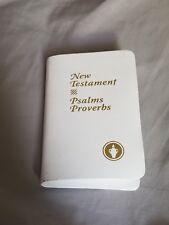 New Testament, Psalms Proverbs Pocket Gideons White BIBLE ESV